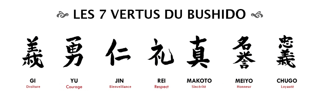 Les 7 vertues du Bushido