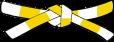 Ceinture blanche jaune 1